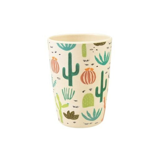 ECO FRIENDLY BAMBOO FIBRE  Reusable Beaker Tumbler Desert In Bloom Design