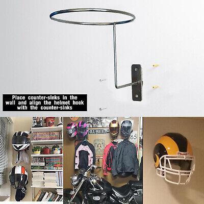 2pcs Helmet Hanger Wall Mount Display Rack for Hockey Motorcycle Accessory