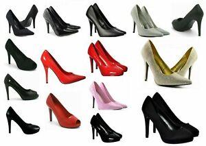 Womens Mens Drag Queen Cross dresse High Heel Platform Court Shoe Large Size