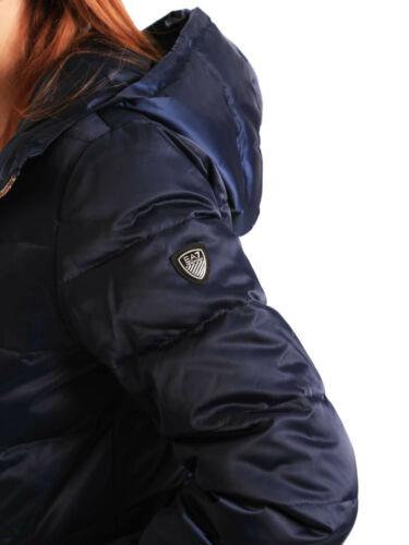 Nero Blu Cappuccio Ea7 Armani 6ztb09 Piumino 18 19 Donna Emporio Nuovo Giubbino zqTnHF