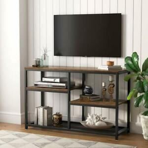 Tribesigns 47 Inch Rustic Brown Console Table 4 Tier Vintage Tv