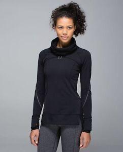 Lululemon-flurry-fighter-half-zip-pullover-size-4-black