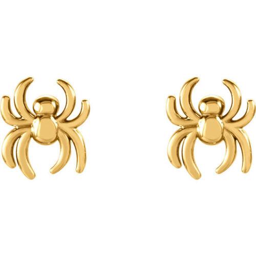 Araignée Boucles d/'oreilles en 14K or jaune