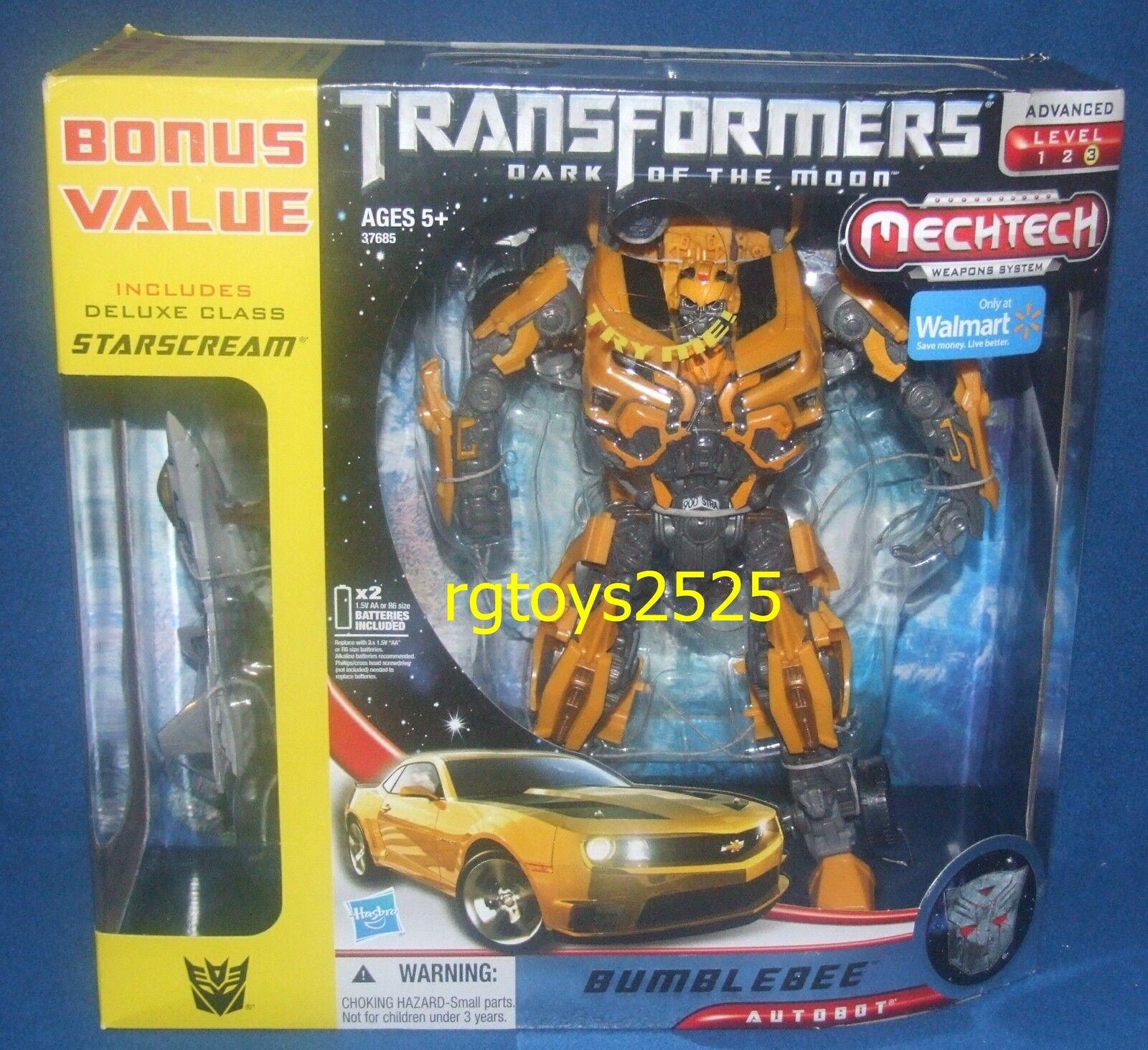 Transformers Dark Of The Moon Leader Class Bumblebee Camaro W Nuevas Starscream