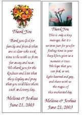 ~WEDDING / BRIDAL SHOWER FAVORS~100 BOOKMARKS~PERSONALIZED FOR YOU!