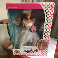 Barbie Doll Midge In Wedding Day 1990