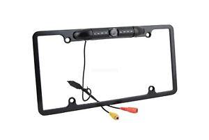 USA License Plate Frame + Car Backup Rear View HD Camera For Universal Car USA