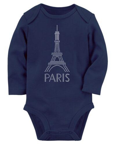 Infant French Patriot Eiffel Tower Paris Bastille Day Baby Long Sleeve Bodysuit