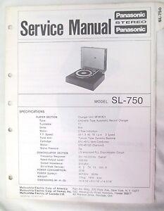 service manual for panasonic technics turntable sl 750 original not rh ebay com Panasonic Direct Drive Turntable panasonic sl-n15 turntable manual