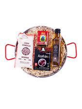 Paella Kit-Set 30cm Paella Pan + bomba arroz Aceite de Oliva Virgen Extra + + + azafrán pimentón
