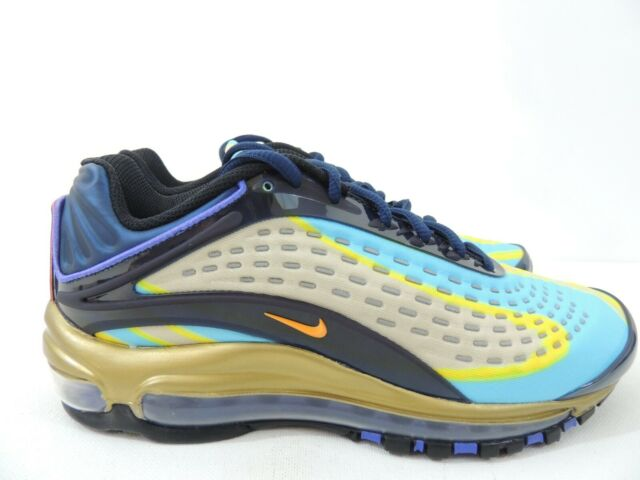Nike Air Max Deluxe (GS) Photo Blue Wolf Grey Gold AR0115 401 Size 7Y 8.5 Womens