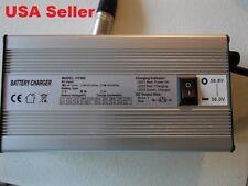 Electric bike 58.8-56.0V 6amp DUAL charger for 48V Lith battery XLR plug silver