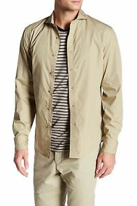 New-Dockers-30th-Anniversary-Lombard-Cutaway-Slim-Fit-Shirt-KHAKI-XL-Extra-Large