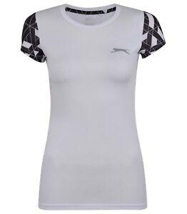 Slazenger Women Ladies Sports Active Fitness T shirt Top Gym wear