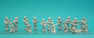 28mm-WW2-US-Marines-13-figure-Squad-03-unpainted-Historical-Miniatures