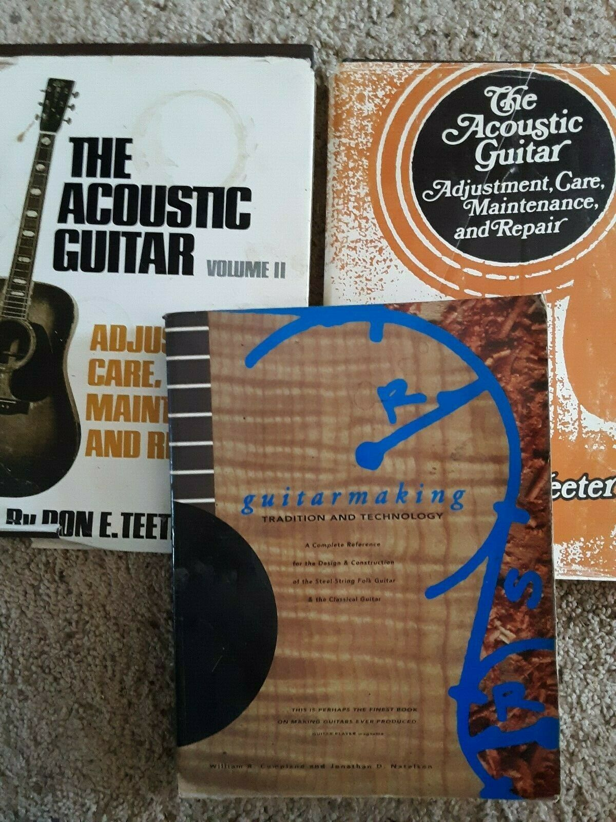 The acoustic guitar Don Teeter, vol 1 and two, and Guitarmaking Cumpiano