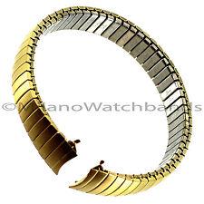 11mm Speidel Express Gold Tone Twist-O-Flex Curved Watch Band BUY 1 GET 2 FREE!!