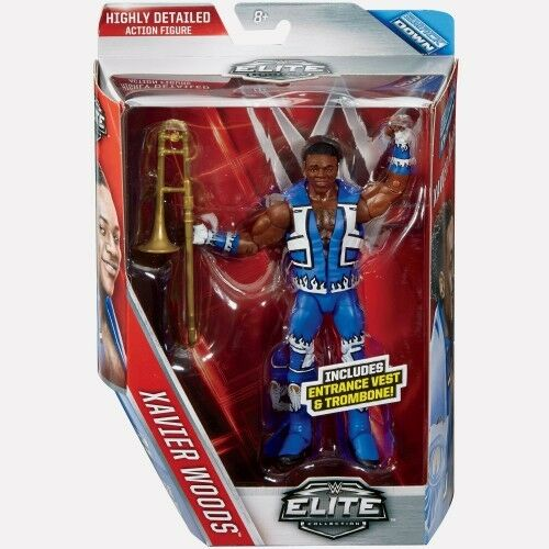 WWE XAVIER WOODS ELITE 42 WRESTLING FIGURE NEW DAY TAG TEAM FRANCESCA BIG E KOFI