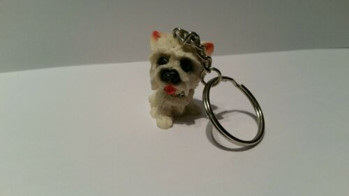 West Highland puppy love collectable keyring Westie