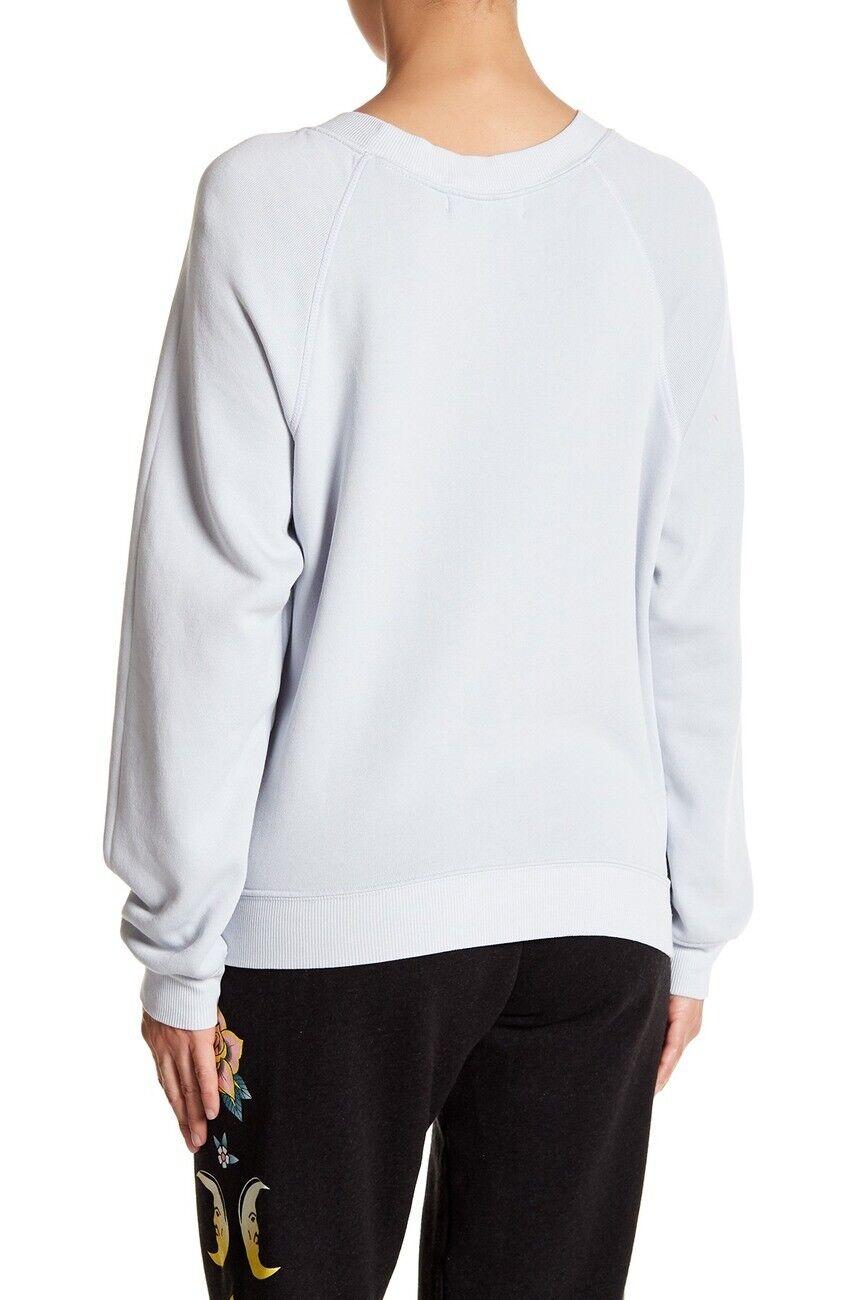 Wildfox Couture Women's bluee bluee bluee Ribbon Wildfox California Fleece Sweater Size S 433de2