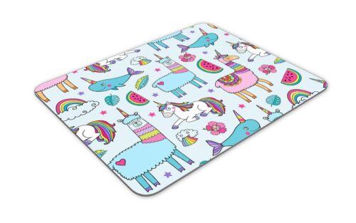 Horse Girls Student Computer Gift #15404 Funny Unicorn /& Llama Mouse Mat Pad
