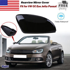 Black Car Side RearView Mirror Cover Trim Left for VW Beetle//CC//Eos//Jetta 09-16