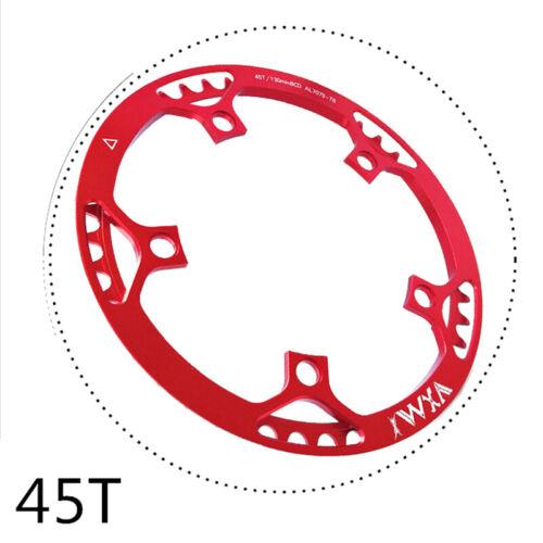 45//47//53//56//58T Folding Bike Chainring Narrow Wide 130BCD Bicycle Chain Wheel AU