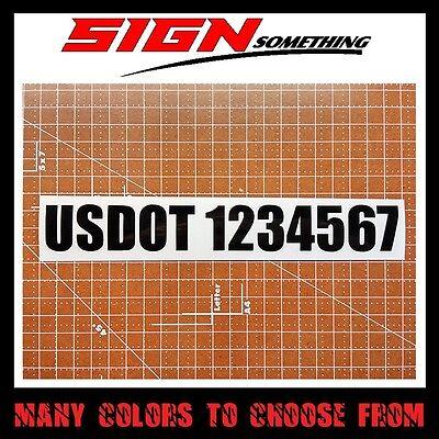"""2/"""" US DOT USDOT VIN NUMBER ICC MC EW GW vinyl Decal Sticker ID truck semi 2 INCH"""