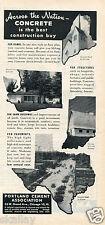 1951 Print Ad of Portland Cement Association Concrete street in Kilgore TX