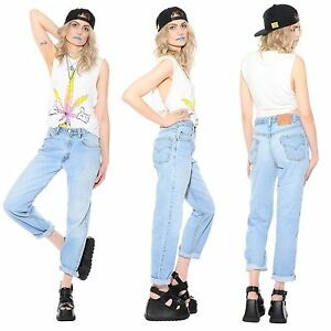 special sales cost charm casual shoes Details about Vtg 80s 90s Light LEVIS Tapered High-Waist Baggy Boyfriend  Jeans Grunge Hip-Hop