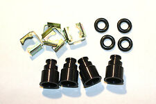Set 4 -12.5 mm Fuel Injector TOP HAT EXTENDERS 14mm Domestic Viton O-rings BLACK