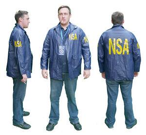 US-SPY-Agency-034-NSA-034-Agent-Windbreaker-Raincoat-JACKET-Cool-Fancy-Dress