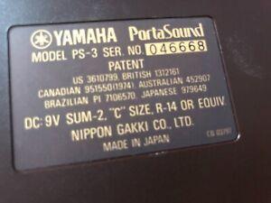 Vintage-1970-039-s-1980-039-s-Yamaha-PS-3-Portasound-Keyboard-Case-synthe-et-adaptateur