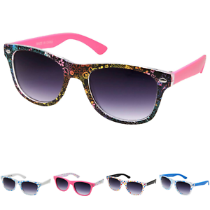 aca5e536d66 Image is loading Kids-Teen-Retro-Party-Sunglasses-Trendy-Assorted-Pattern-