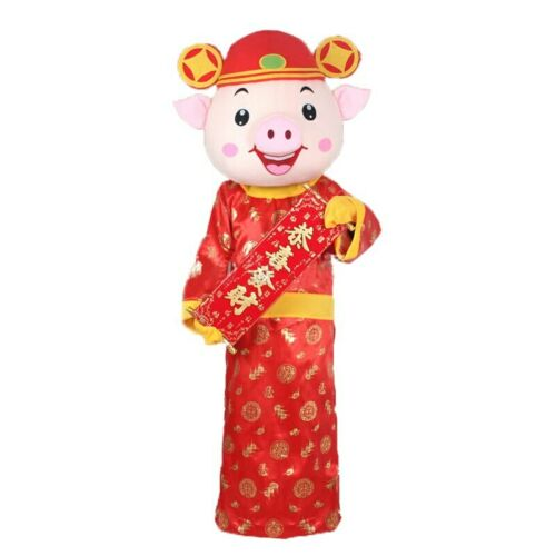 Pig Mascot Costume Cosplay Party Game Dress Outfit Advertising Halloween Adult