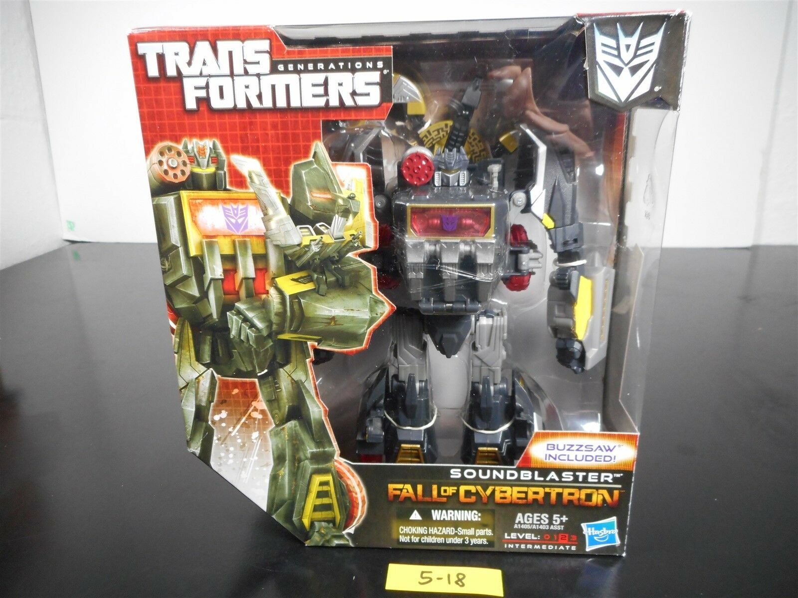 NEW & SEALED    TRANSFORMERS GENERATIONS FALL OF CYBERTRON SOUNDBLASTER FOC 5-18