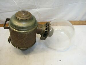 The Angle Lamp Co Tin Elbow Sconce with Glass Shade Ornate Wall Light