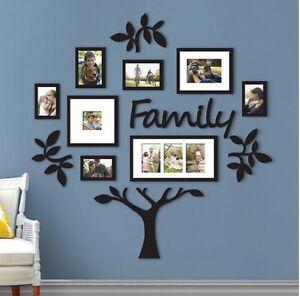13 piece family tree set hallway photo wall collage frame picture frames decor ebay. Black Bedroom Furniture Sets. Home Design Ideas