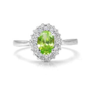 Peridot-925-Sterling-Silver-Ring-Natural-Green-Gemstone-Size-4-11
