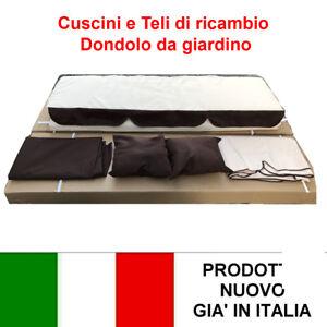 Telo e cuscino di ricambio dondolo da giardino 3 posti con for Telo copri dondolo 3 posti