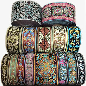 10M-Vintage-Floral-Lace-Crochet-Fringe-Jacquard-Ribbon-Braid-Trim-Fabric-Crafts