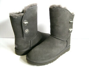 b40ae4815e3 Details about UGG TURNLOCK WOMEN SHORT BOOTS SUEDE CHARCOAL US 8 /UK 6 /EU  39 /JP 25