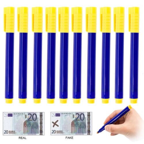 10-50x Geldschein Stift Prüfer Falschgeld Prüfstift Tester Geldscheinprüfstift N