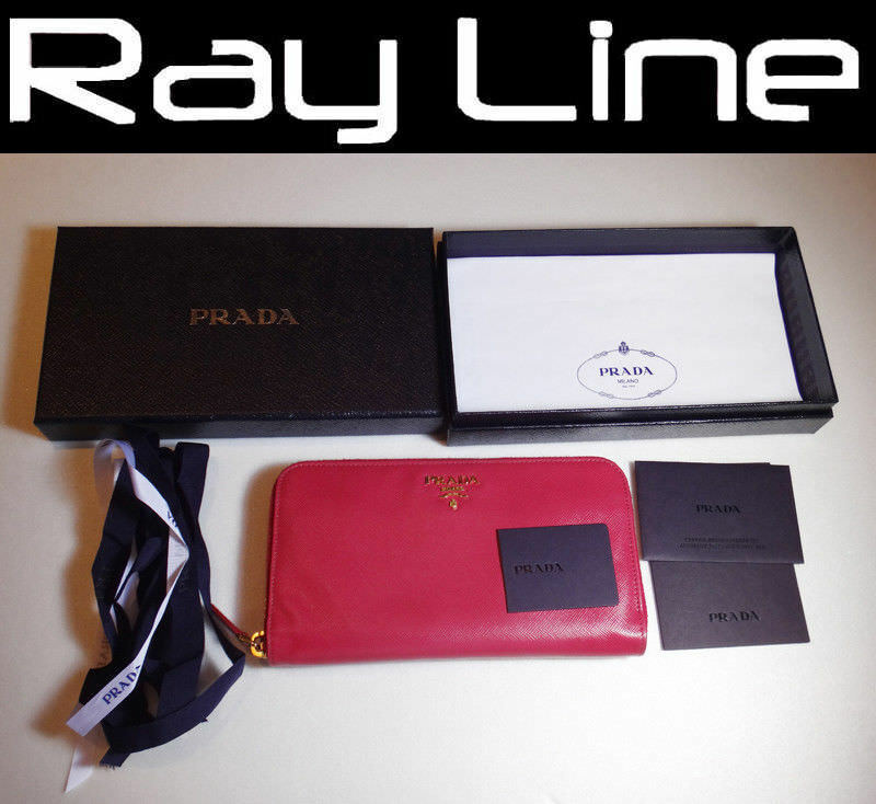 [PRADA] Round Zipper Wallet / Pink (Used) 100% authentic