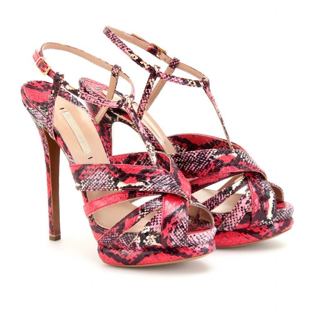 Nicholas Kirkwood Snakeskin Platform Sandals Size 39.5   US 8.5