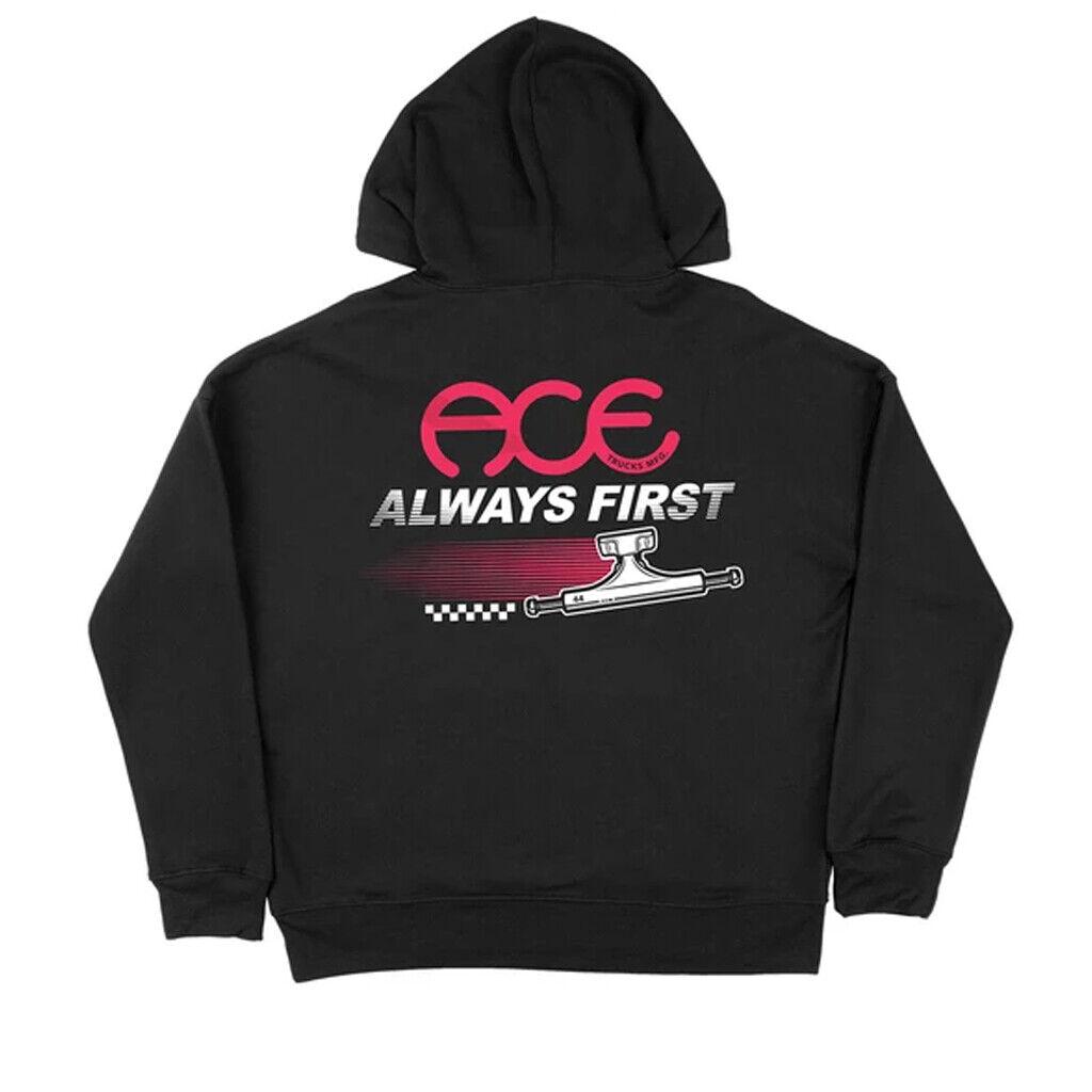 Ace Trucks MFG Skateboard Hoody Always First Black