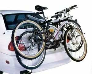 NEW-2-BICYCLE-CARRIER-CAR-RACK-TOWBAR-UNIVERSAL-FITTING-SALOON-HATCHBACK-ESTATE
