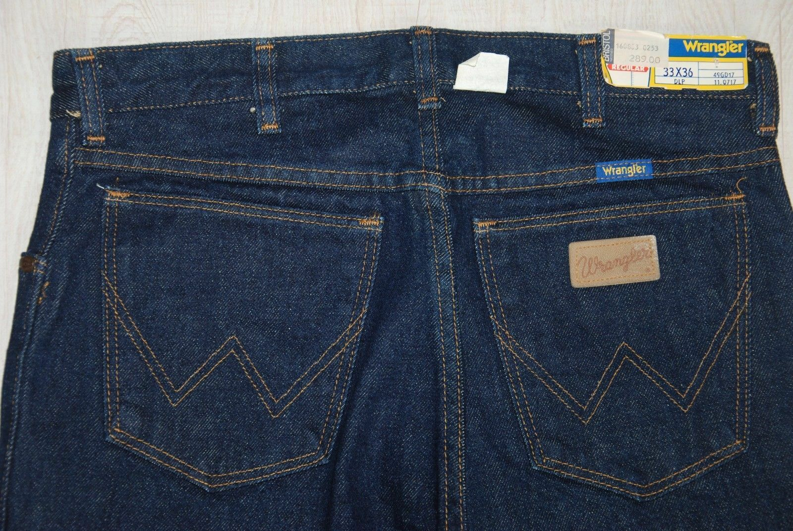 NWT VINTAGE WRANGLER JEANS REGULAR STRAIGHT CLASSIC blueE LONG MOM HIGH 30 31 L36