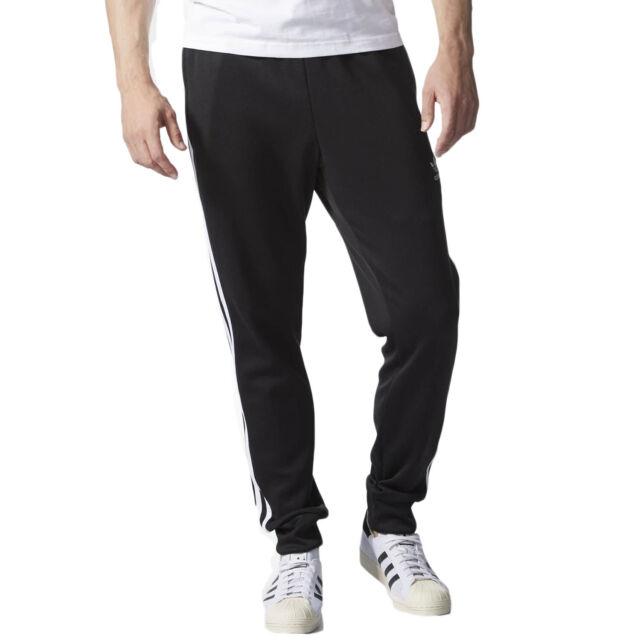 Adidas Superstar Cuffed Men's Originals Track Pants Athletic Black White AJ6960