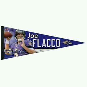purchase cheap d597a c2559 Details about JOE FLACCO BALTIMORE RAVENS PREMIUM QUALITY PENNANT 12